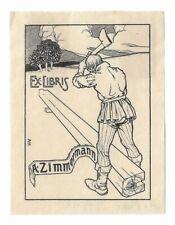 ARTHUR HEYNE: Exlibris für A. Zimmermann, 1909