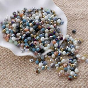 Mix Crystal Beads Rondelle Earring Quartz Bow Knots Diy Earrings Women's Jewelry