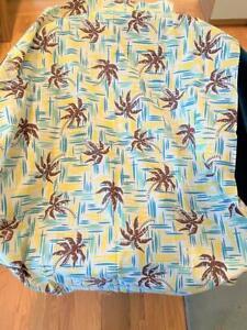 """Hawaii Vtg Palm Tree Cloth Fabric Feed Flour Sack 1930's Unused 42"""" Crafts"""