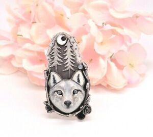 MOON WATCHER -  Wolf Spirit Animal Necklace By Nightgypsy83