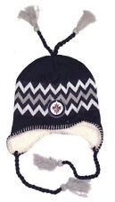 NHL Officially Licensed Winnipeg Jets Sherpa Lined Tassel Beanie Hat Cap Lid Sku