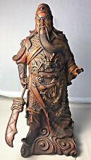 Vintage Porcelain Warrior Statue Holding Sword Korea **Read Listing for Flaw