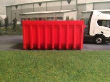 1:50 Scale 3d Printed Skip (red)  Would suit  Wsi ,Tekno, Corgi Diorama