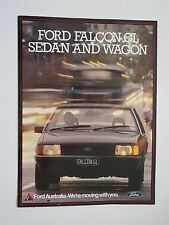 1981 FORD FALCON GL SEDAN AND WAGON FACTORY ORIGINAL DEALERSHIP SALES BROCHURE