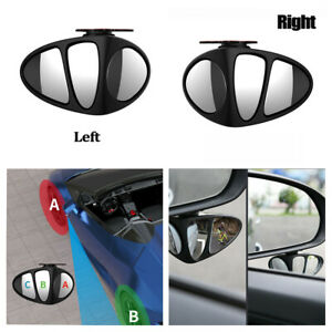 Auto Car  Wide Angle Convex Rear Side View Adjustable Blind Spot Mirror 2 Pcs