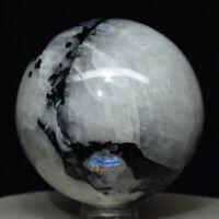 White Rainbow Moonstone Healing Sphere Ball Crystal Gemstone 40-45 MM