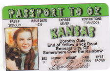 Dorothy Gale The Wizard of OZ novelty plastic collectors card Drivers License