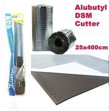 Dämmungsset Dämmmaterial   Alubutyl 25x400cm   DSM 10mm   Cuttermesser   Schere