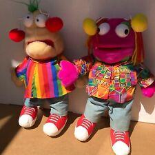 """Zig & Zag 18/19"""" plush soft toy hand puppet Vintage 1993 Retro Big Breakfast TV"""