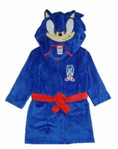 Sonic The Hedgehog Boys Blue Costume Plush Robe Size 4/5 6/7 8 10/12