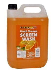 Screen Wash ORANGE Car Screenwash 5 Litre Concentrate Make 45L Summer 10L Winter