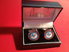 DGSE ( French Secret Police  Agency)  SILVER  PLATED CUFF LINKS& BADGE + STICKER