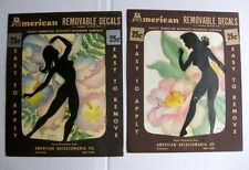 1940s American Decalcomania Silhouette Decals