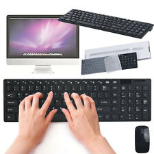 Luxury Ultra Slim 2.4G Wireless Optical Keyboard and Mouse Set Kit For PC Laptop