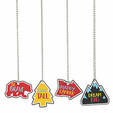 Adventure Dog Tag Necklaces - Jewelry - 12 Pieces