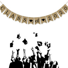 Class of 2020 Jute Burlap Graduation Party Banner Classroom Decoration Backdrop