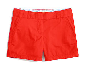 "J. Crew Factory - Women's 0 (XS) - NWT - Red-ish Orange 5"" Chino Cotton Shorts"