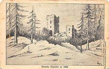 B153 ruinele ciceului in 1866 postcard  bistrita nasaud romania Csicsokeresztur