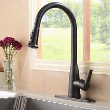 Pull Out Sprayer Kitchen Sink Faucet Oil Rubbed Bronze With Deck Plate Mixer Tap