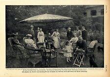 Die Familie des Grafen von Limburg-Stirum in Schloss Peterwitz Schlesien c.1905
