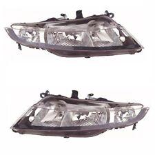 For Honda Civic 3 & 5 Door 2006 Headlights Headlamps 1 Pair O/S & N/S