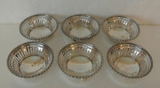 8oz STERLING SILVER Set 6 TOWLE Nut Candy Dishes Bowls FOOTED RETICULATED 4780