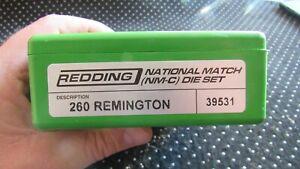 Redding 260 remington FL 3 Die Reloading die Set 39531 national match micrometer