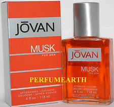 Jovan Musk By Coty 4.0oz./120ml Aftershave Lotion For Men New In Box