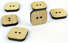 Tajadera grandes botones de madera 30mm/square shape/laser cut/beads/sewing / Manualidades