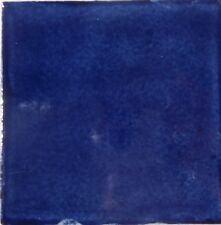 90 Mexican Talavera 4x4 Tile S019 WASHED COBALT BLUE