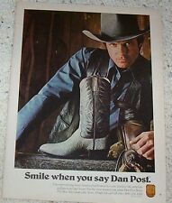1981 - Suzuki 1981 GS Model motorcycles & Dan Post leather cowboy boots PRINT AD