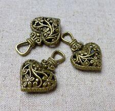 Bronce Antiguo Encanto Colgante de Corazón-Paquete de 6