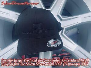 RARE SALEEN STORE ALL BLK FLEXFIT L-XL HAT NOS FRM 07 S281 S302 MUSTANG S331 PJ