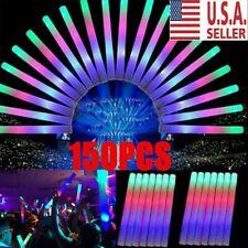 Light Up Led Foam Sticks Glow Wands Rally Rave Batons Flashing Dj Party 150x