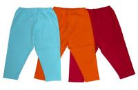 NEW Zutano Primary Solid Cotton Leggings Pool Aqua Orange Fuchsia 6 12 18 24 NWT