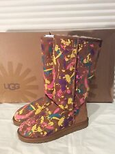 Ugg 1001150  women's classic tall  Chestnut Paint Splatter Chestnut multi USA 7