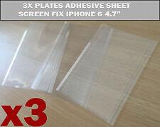 """3x New OCA Glue Adhesive Plate Sheet Assembly Screen Fix Repair iPhone 6 4.7"""" UK"""