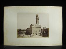 Firenze Florence tirage albuminé Palazzo Vecchio Italie Italia 1880 photographie