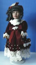 """17"""" AA AFRICAN AMERICAN PORCELAIN DOLL BY CLASSIC TREASURES - SPECIAL EDITION"""