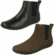 Clarks 100% Leather Textile Boots for Women