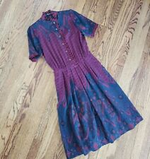 Vtg 80s Louis Feraud Paris Lightweight Wool Dress | sz. 38 | As Is