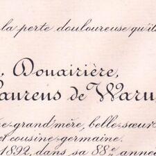 Hermine Alexandrine Laurens De Waru De Parseval 1892