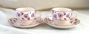 Pair of Antique/Vintage Art Deco DemiTasse Cups & Saucers, Fondeville - England