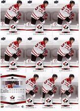 CURTIS LAZAR 14/15 Upper Deck Team Canada Juniors #53 Lot of (10) Rookie Cards