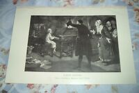 1919 YOUNG HANDEL from painting by Margaret Isabel Dicksee Print