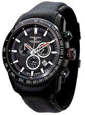 Jorg Gray JG3700-31 Mens Black Watch Swiss Chronograph Movement Black Strap