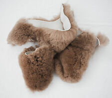 4 lb Big BROWN Real Sheepskin Craft Scraps Sew Hat Pet Bed Chair Pad kid Insoles