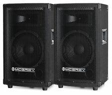 "PAAR 300W DJ PA HIFI LAUTSPRECHER PARTY MONITOR BOX 8"" (20CM) BASS SUBWOOFER SET"