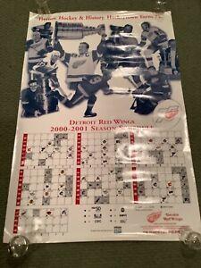 Detroit Red Wings Joe Louis SGA Poster 2000-01 Hockeytown Turns 75 Years!