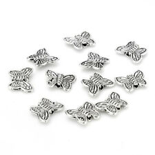 30pcs Tibetan Silver Butterfly Spacer Charm Beads 10mm ~~ F6
